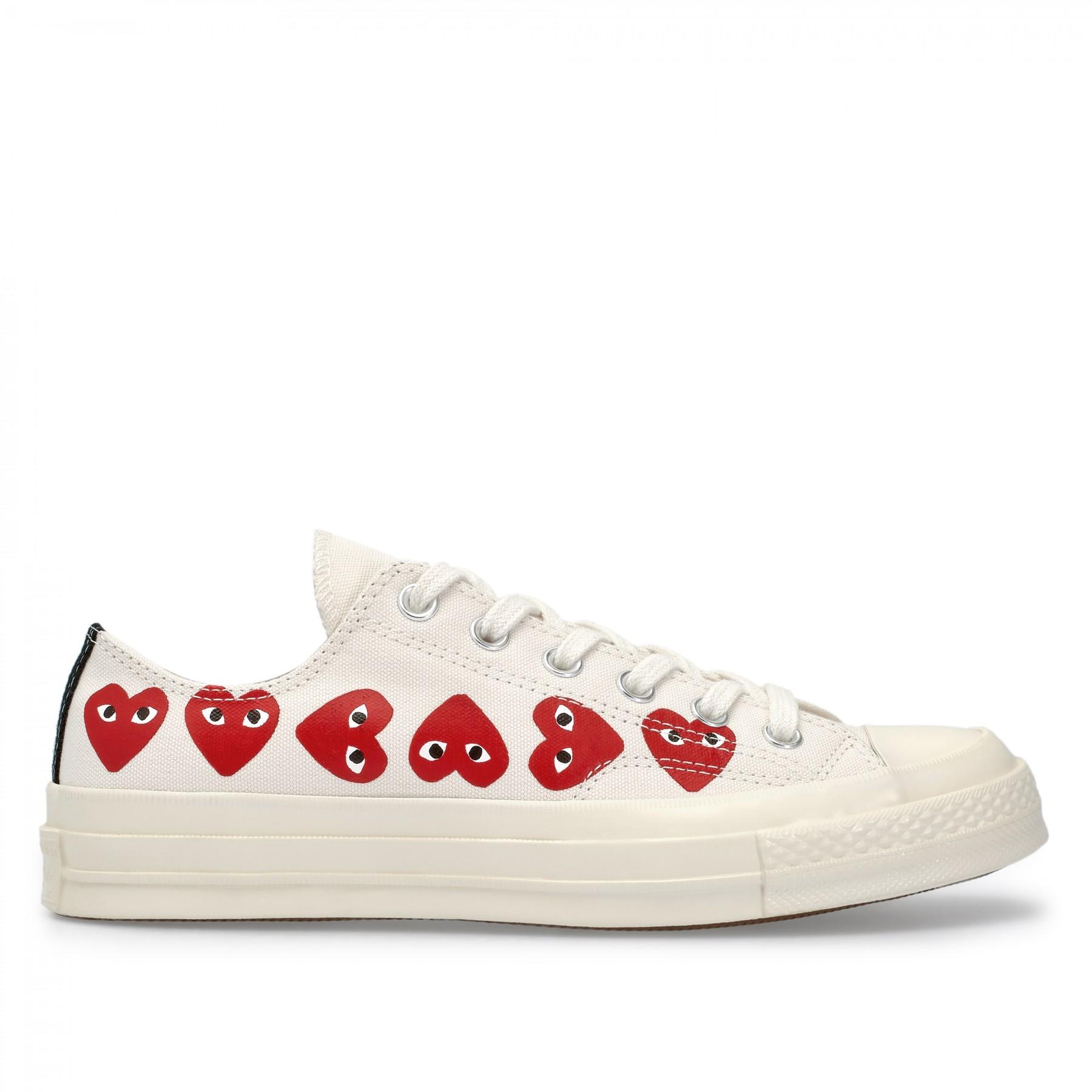 Play Comme des Garçons Converse Multi Red Heart Chuck Taylor